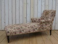 Antique Napoleon III Day Bed Chaise Longue (7 of 7)