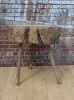 19th Century Chopping Block, Side Table (3 of 9)