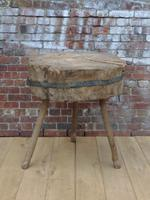19th Century Chopping Block, Side Table