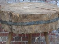 19th Century Chopping Block, Side Table (2 of 9)