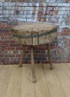 19th Century Chopping Block, Side Table (8 of 9)