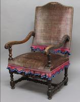 Superb French Walnut Armchair C.1700