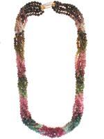 Green & Pink Tourmaline Necklace
