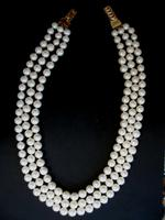 Japanese Three Row Cultured Pearls