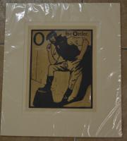 William Nicholson Lithograph - O is for Ostler 1898