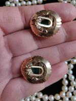 9ct Gold Set / Necklace & Earrings / Pearls & Australian Chrysoprase 1966 (10 of 14)