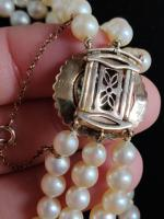 9ct Gold Set / Necklace & Earrings / Pearls & Australian Chrysoprase 1966 (11 of 14)