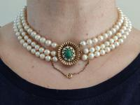 9ct Gold Set / Necklace & Earrings / Pearls & Australian Chrysoprase 1966 (14 of 14)