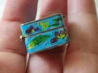 Antique Chinese Enamel Solid Silver Pill Box with Shrimp (9 of 12)