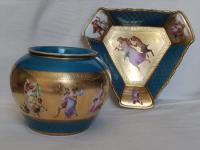 Antique Austrian Corinth Porcelain Vase & Serving Dish / Plate c.1900 (2 of 15)