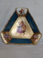 Antique Austrian Corinth Porcelain Vase & Serving Dish / Plate c.1900 (5 of 15)