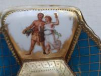 Antique Austrian Corinth Porcelain Vase & Serving Dish / Plate c.1900 (6 of 15)