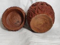 Hand Carved Wood Carving Tobacco Jar Box in Merbau Mahogany Indonesia (5 of 9)