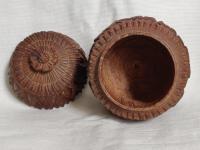 Hand Carved Wood Carving Tobacco Jar Box in Merbau Mahogany Indonesia (4 of 9)