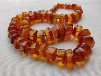 Antique  Caramel/ Butterscotch/Mixed Color Baltic Amber Necklace 54 Gr( Free Shipping To Uk)