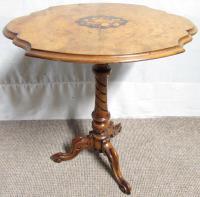 Victorian Burr Walnut Wine Table