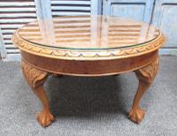Burr Walnut Round Coffee Table c.1920