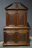 Impressive Large French Walnut Cabinet c.1860