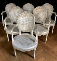 Rare Set of 6 Belgium Armchairs by Massant c.1900