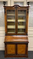 Very Fine Italian Amboyna Bureau Bookcase c.1850