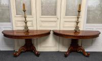Pair of William IV Console Tables