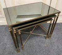 French Brass Nest of Tables