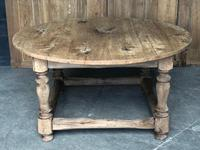 French Round Farmhouse Dining Table