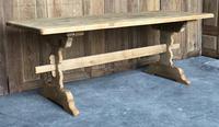 French Farmhouse Oak Trestle Dining Table