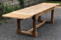French Farmhouse Dining Table with Extensions
