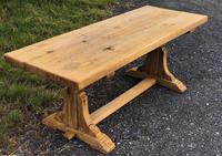 French Rustic Oak Farmhouse Dining Table