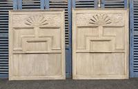 Pair of Large Decorated Oak Wall Panels c.1800