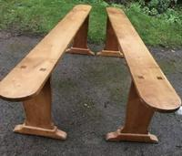 Pair of French Cherry Dining Benches c.1870 (4 of 5)