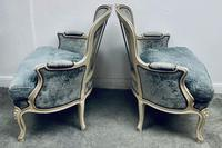 Pair of French Upholstered Bergere Armchairs (5 of 12)
