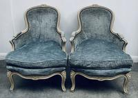 Pair of French Upholstered Bergere Armchairs (2 of 12)