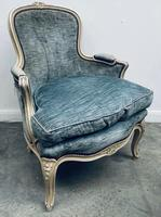 Pair of French Upholstered Bergere Armchairs (7 of 12)