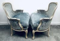Pair of French Upholstered Bergere Armchairs (8 of 12)