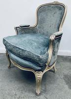 Pair of French Upholstered Bergere Armchairs (12 of 12)