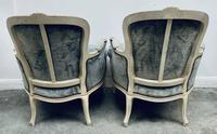 Pair of French Upholstered Bergere Armchairs (6 of 12)