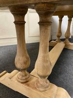 French Bleached Oak Farmhouse Dining Table (10 of 17)