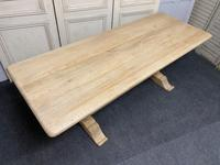French Bleached Oak Farmhouse Dining Table (4 of 17)