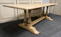 French Bleached Oak Farmhouse Dining Table (3 of 17)