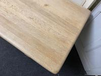 French Bleached Oak Farmhouse Dining Table (15 of 17)