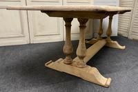 French Bleached Oak Farmhouse Dining Table (7 of 17)