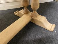 French Bleached Oak Farmhouse Dining Table (12 of 17)