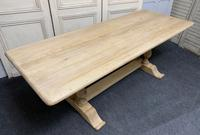 French Bleached Oak Farmhouse Dining Table (2 of 17)
