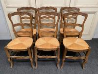 Set of 6 French Ladder Back Chairs (2 of 7)