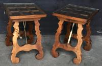 Pair of Spanish Walnut Lamp Tables C.1910 (4 of 8)