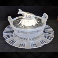 Silver Cow Lidded Butter Dish