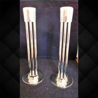 Pair of Silver Plated Secessionist Candlesticks