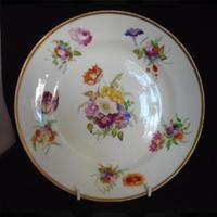 Swansea Porcelain Plate Decorated by Henry Morris